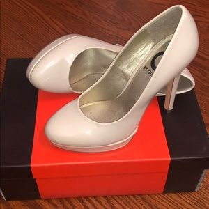 Natural Nude Patent Leather Pumps